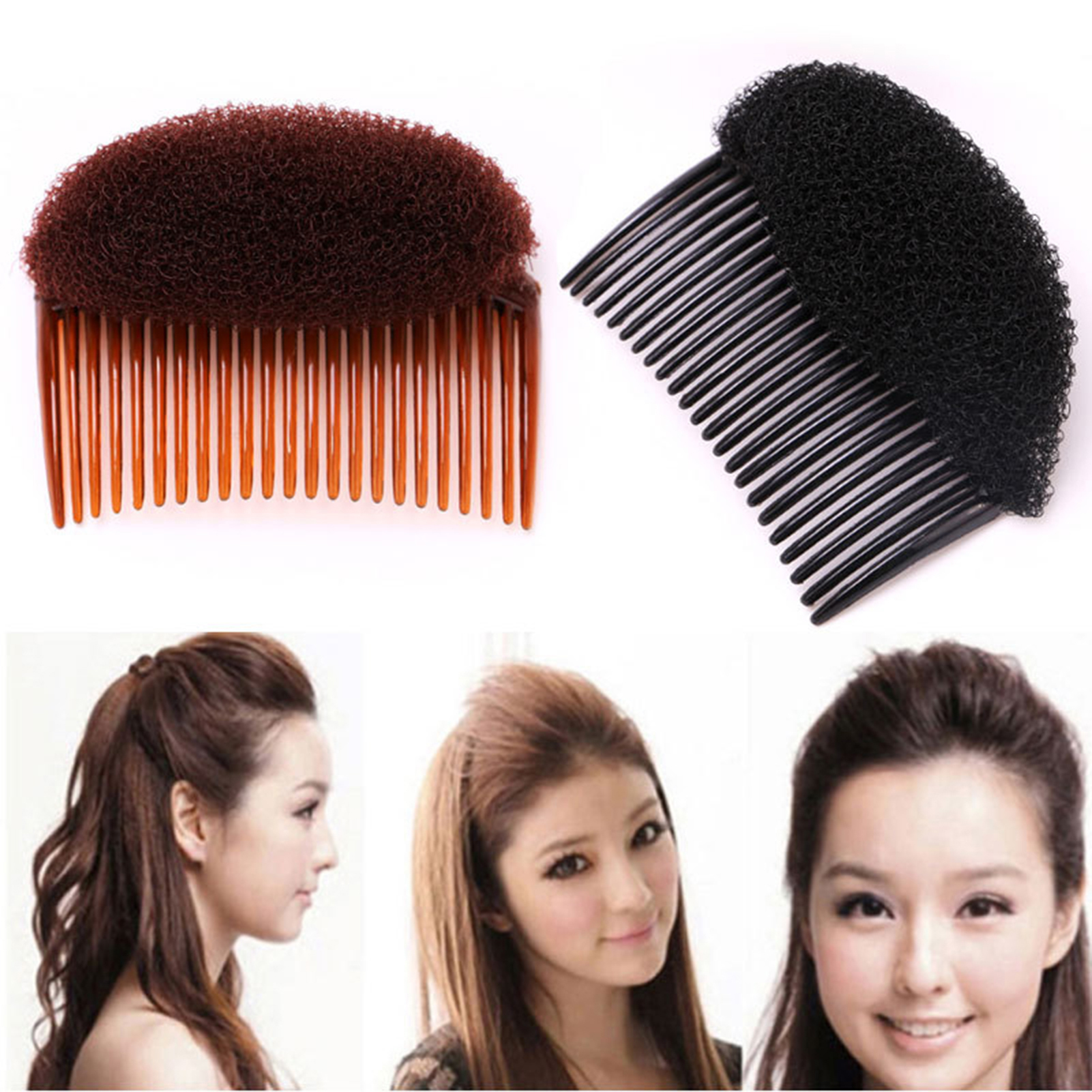 Volume Inserts Hair Clip Bump It Up Bouffant Hair Comb Bun Maker Hair Styler US Clothing, Shoes & Accessories