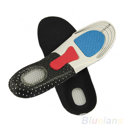 Men Orthotic Arch Support Shoe Pad Sport Running Gel Insoles Massaging Insert US Clothing & Shoe Care
